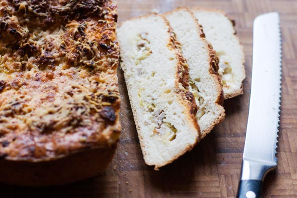 Sausage and leek bread