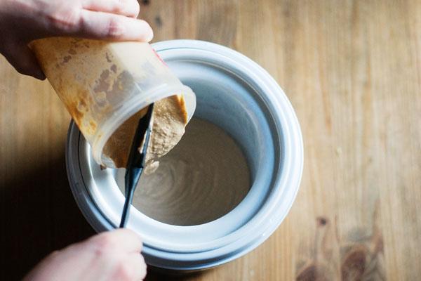 Earl grey ice cream and shortbread