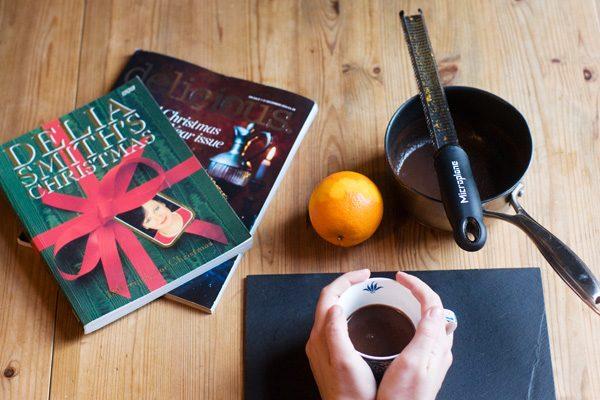 Spiced hot chocolate bay cinnamon nutmeg baileys rum