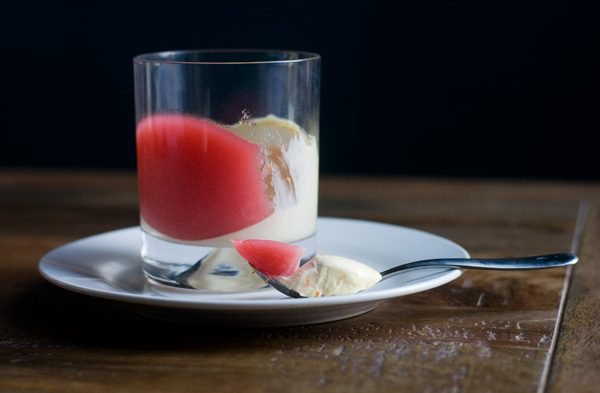 Rhubarb jelly orange cardamom cream